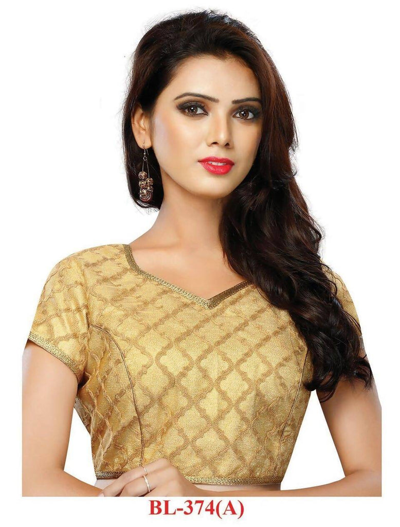 Melluha Beige Stitched customizable Brocade Blouse