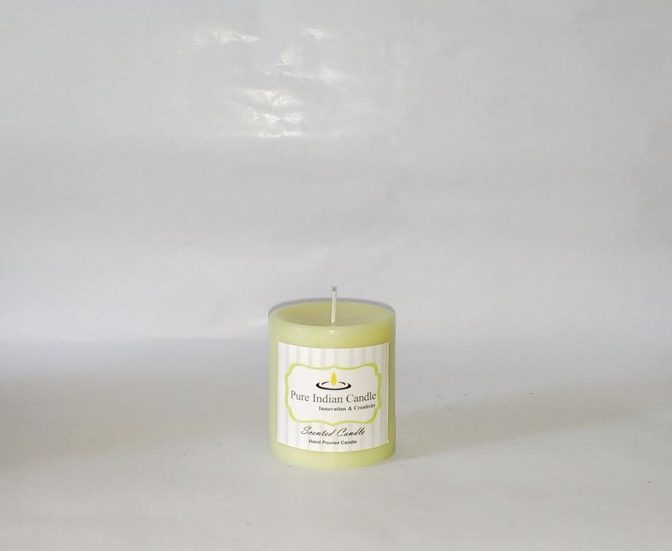 Pear and Vanilla Handmade Scented Pillar Candle PIC005