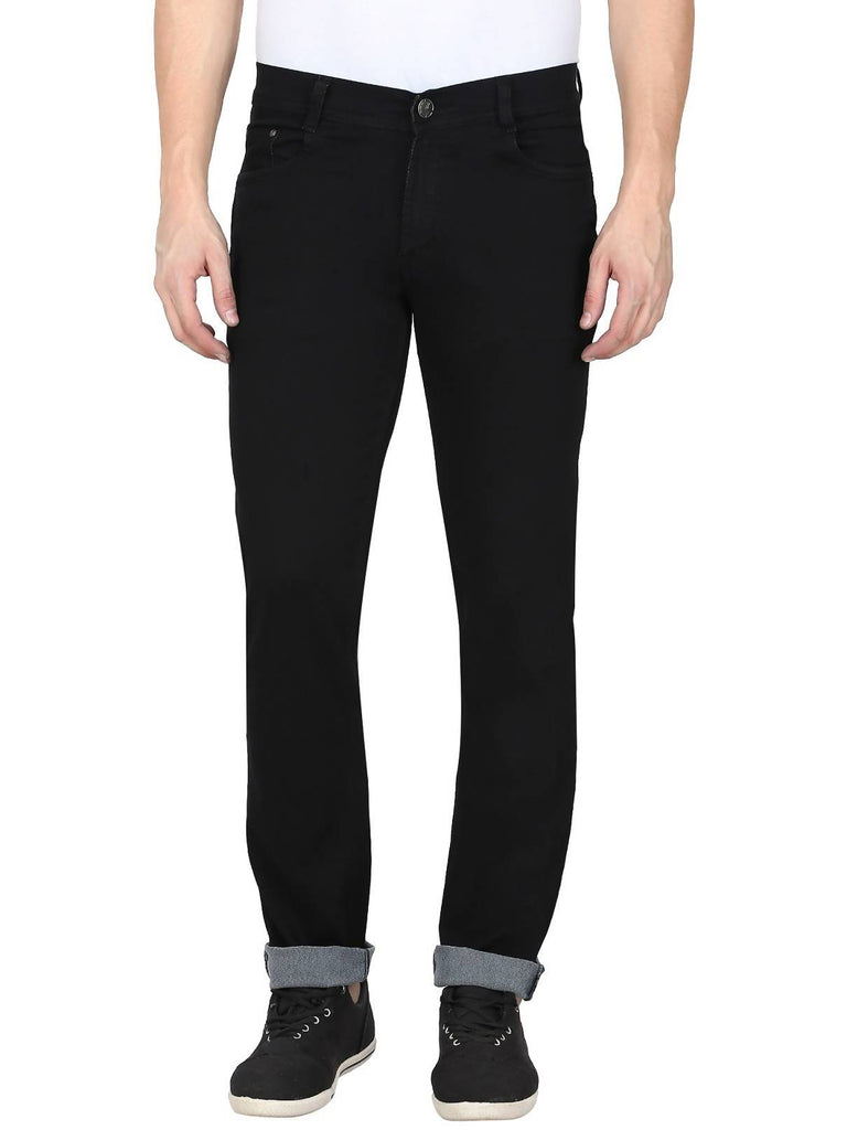 Gradely Men's Regular Fit Black Jeans