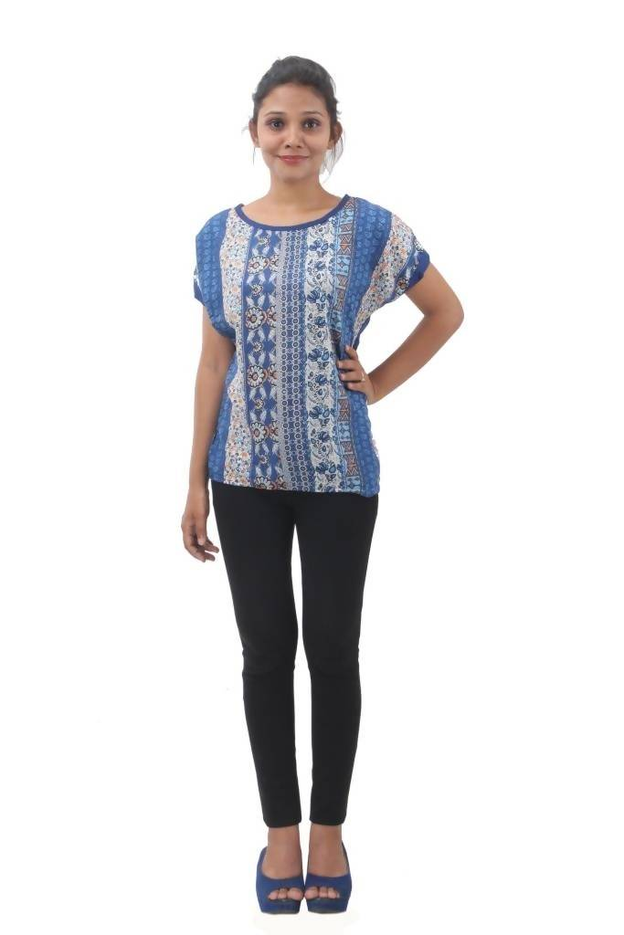 Matargashti Multi Color Net Regular Tops