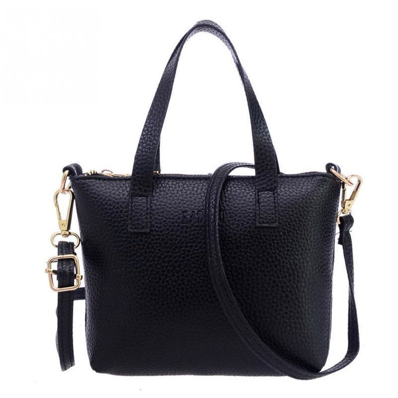 Black New Fashion High Quality Branded Soft Leather Tassel Tote Handle Bags