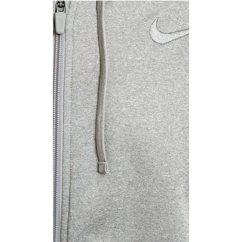 Nike Men Grey Melange Hooded Sweatshirt