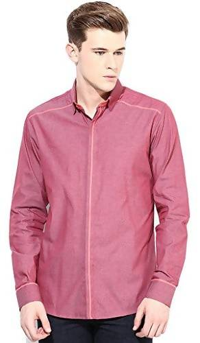 Alvin Kelly Solid Pink Color Casual Men's Shirt