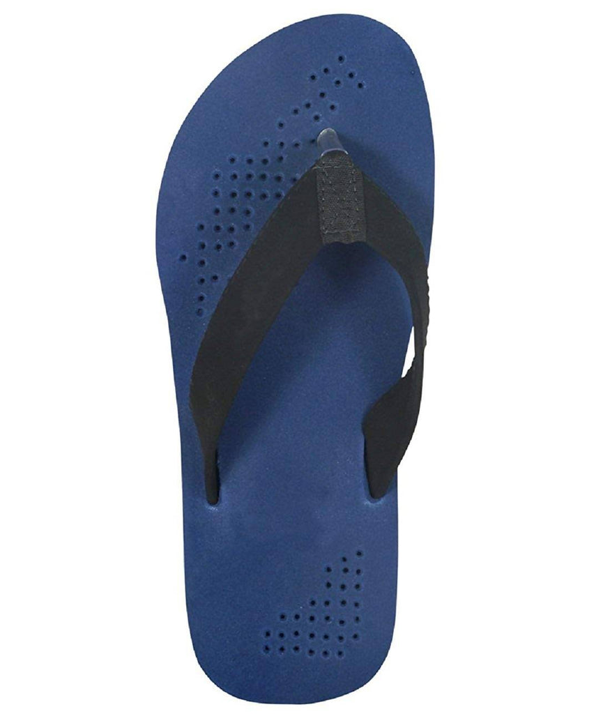 Micro-Soft Men's Black Synthetic Flip-Flops MCR-401