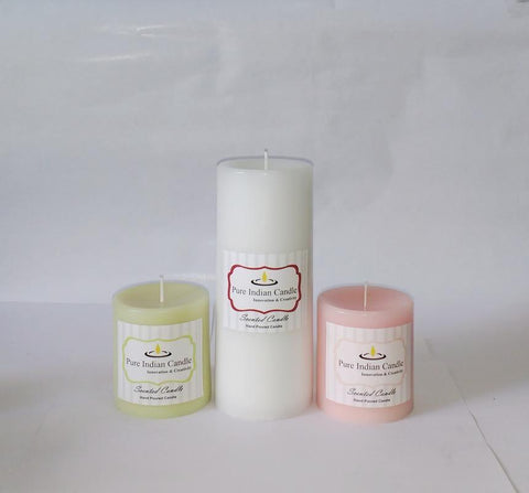 Handmade Triple Scented Pillar Candle PIC0313