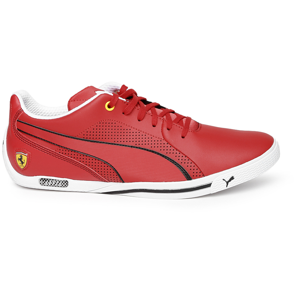 PUMA Unisex Red Selezione Ferrari Leather Casual Shoes