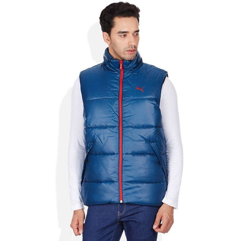 Puma Blue Sleeveless Reversible Jacket