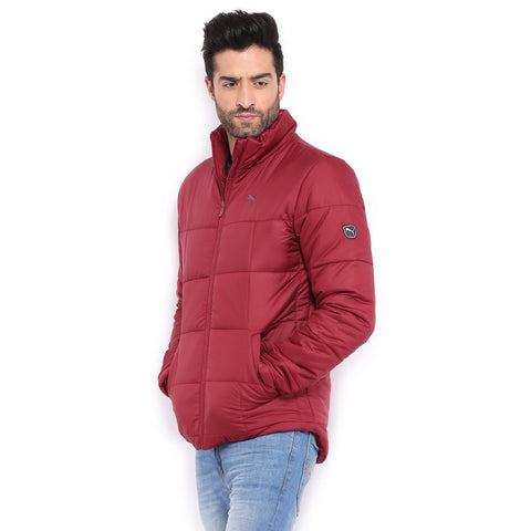 Puma Men Maroon Padded Jacket