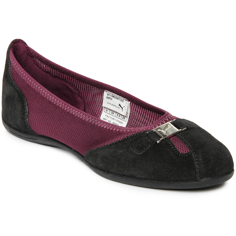 Puma Women Black & Purple Saba Ballet DP Flat Shoes