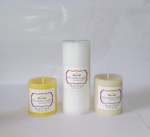 Handmade Triple Scented Pillar Candle PIC0316