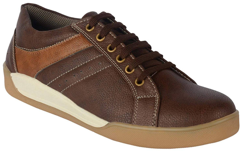 Goosebird Mens Stylish Synthetic Brown Sneakers Shoes