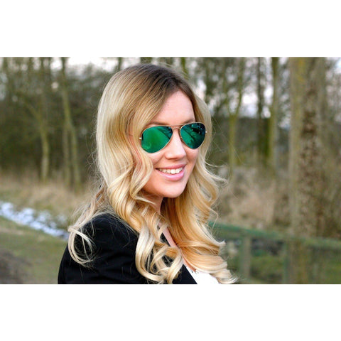 Sunglasses Green Mercury Aviator Goggles For Women