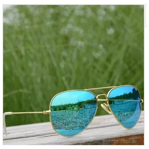 Aqua Blue Mercury Aviator Sunglasses For Men