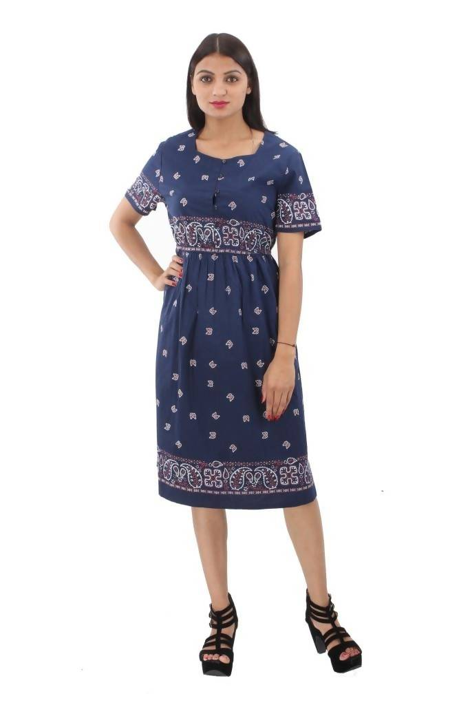 Matargashti Women Blue Dress