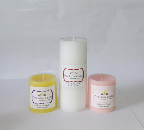 Handmade Triple Scented Pillar Candle PIC038