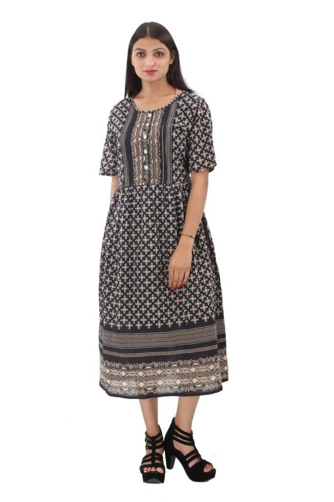 Matargashti Women Brown Dress