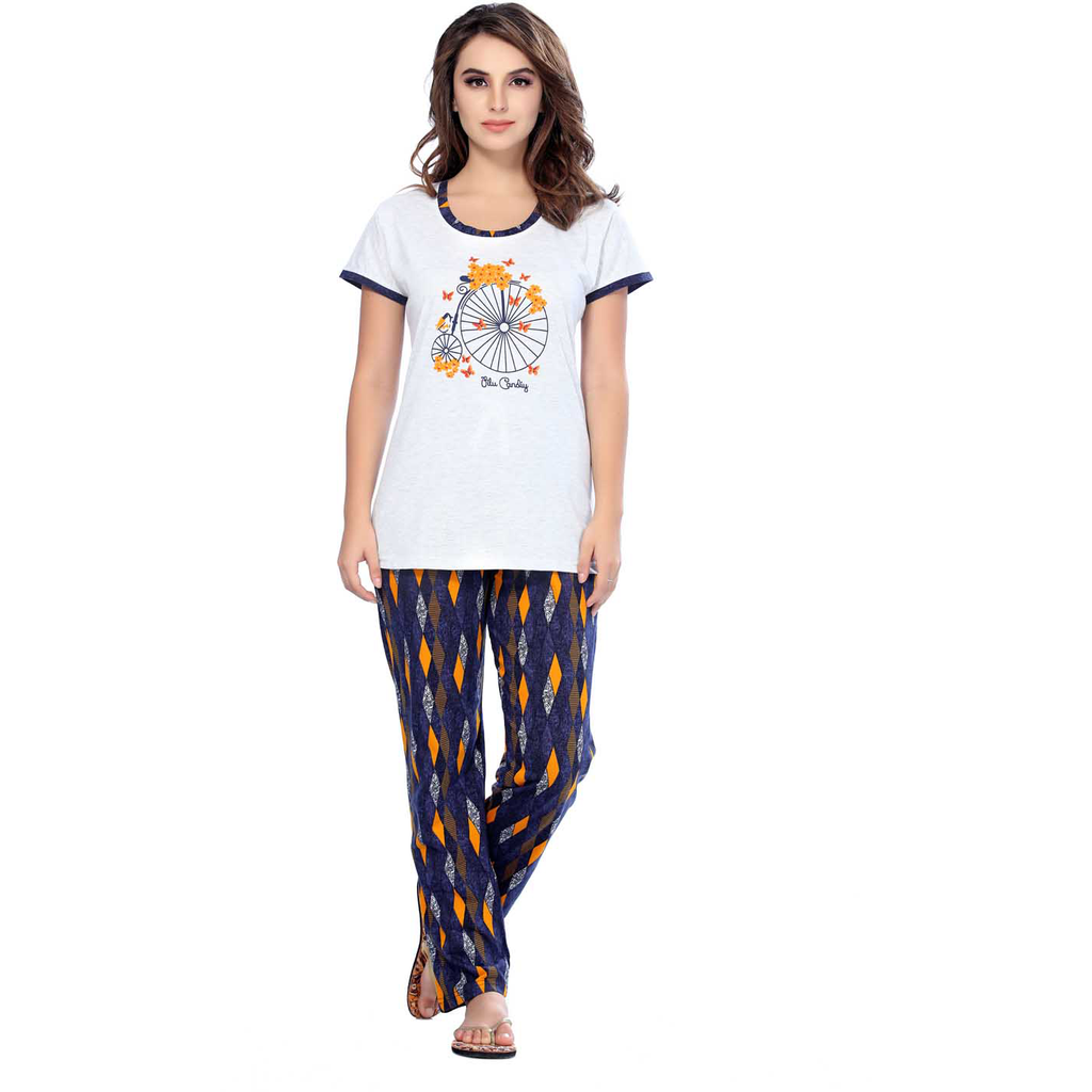 Get an Angelic and serene look with Printed White T-shirts