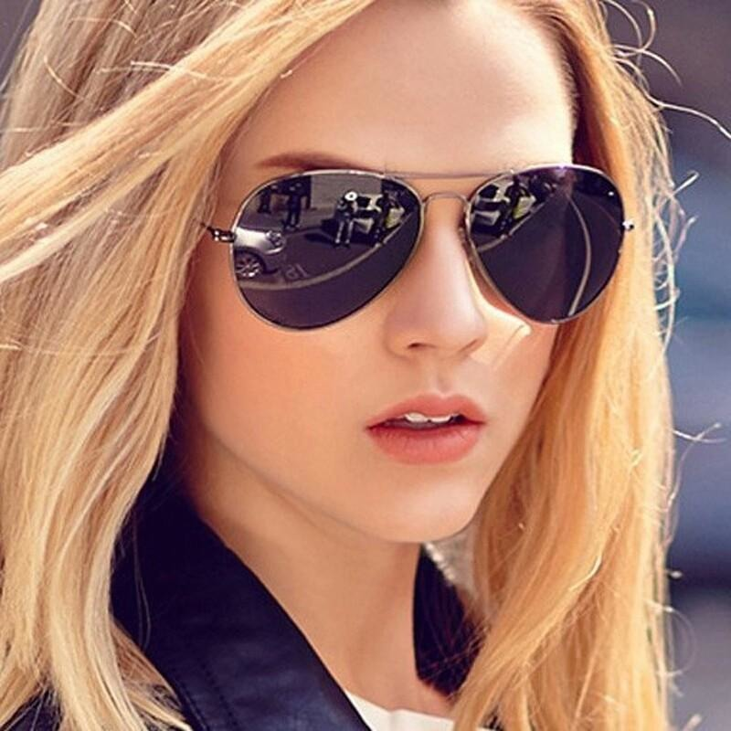 Sunglasses Black Aviator Goggles For Women