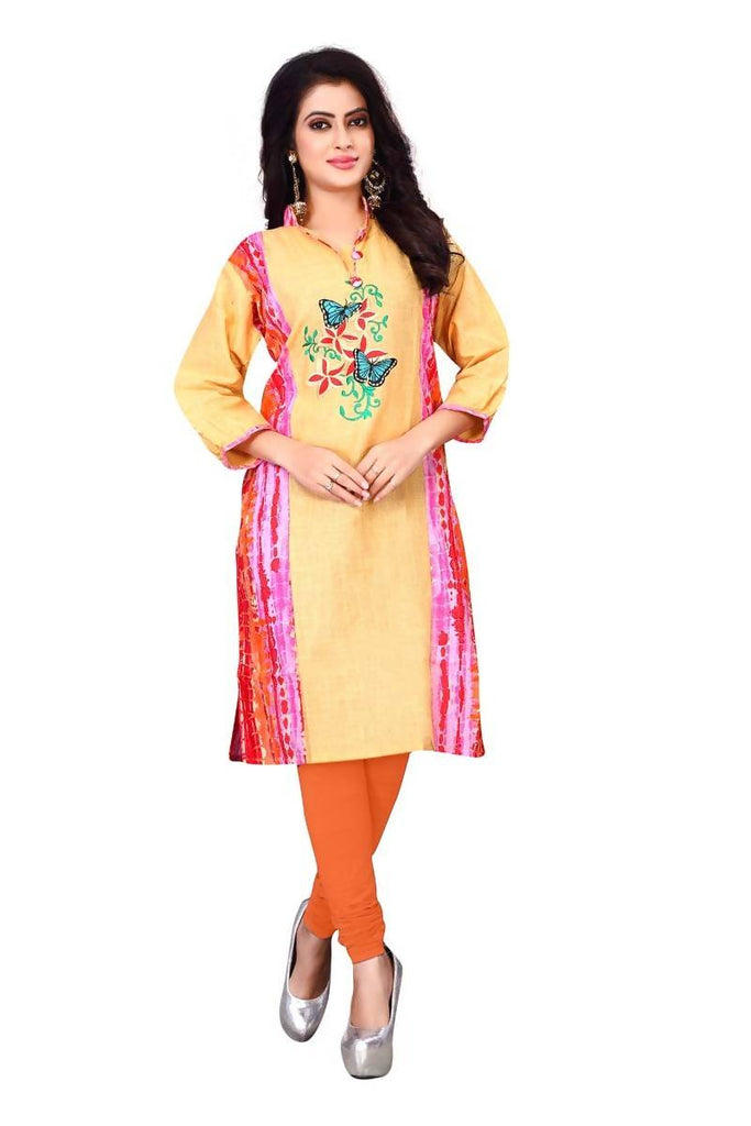 Reeva Trendz Women's Dress Yellow Kurti
