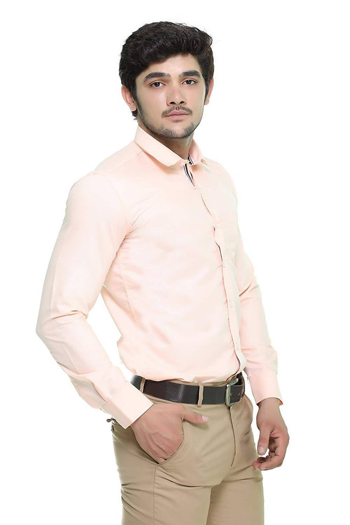 Nimegh Pink Colored Cotton Casual Solid Shirt For Men