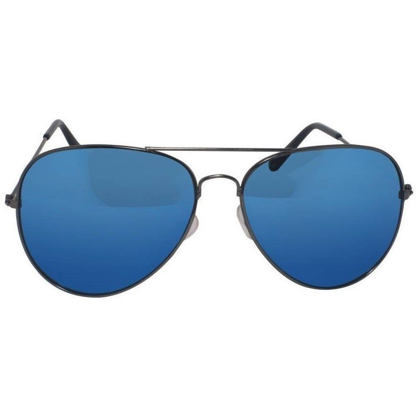 Blue Aviator Black Sunglass By Men