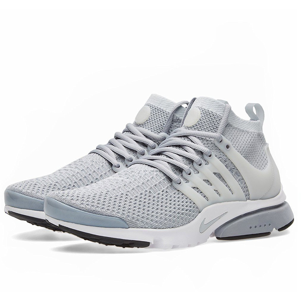 Air Presto Flyknit Ultra Wolf Grey Pure Platinum White Black