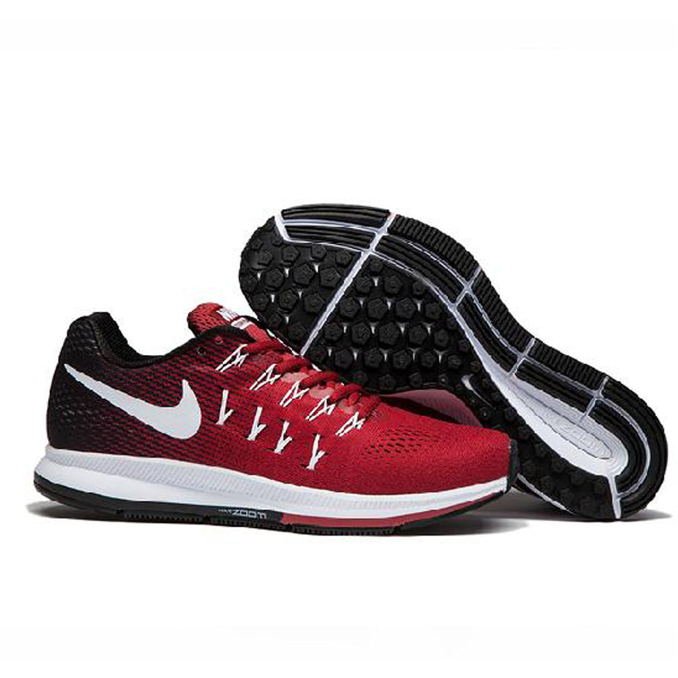 2c1771304a2a ... nike shoes Air Zoom Pegasus 33 Red Black Mens Sports Shoes .