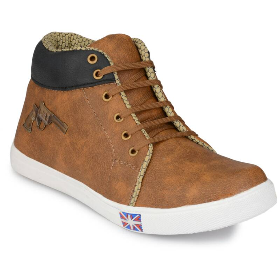 Men's Brown Hi-Neck Shoes for Stylish Wear
