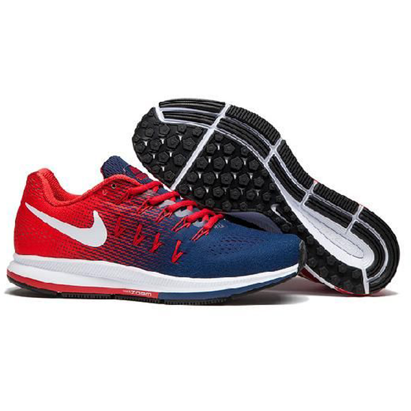 Nike Zoom Pegsus 33 Blue Red Men's Sports Shoes