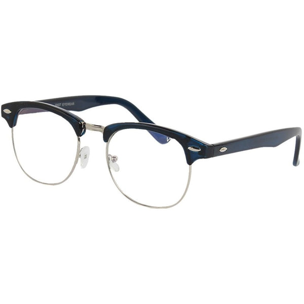 White Round Club Master Black & Silver Sunglass By Men