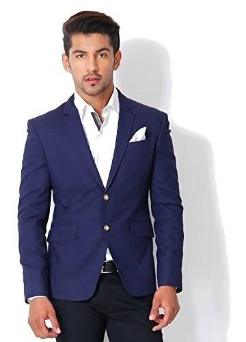 Alvin Kelly The Solid Blue Color Party Men's Blazer