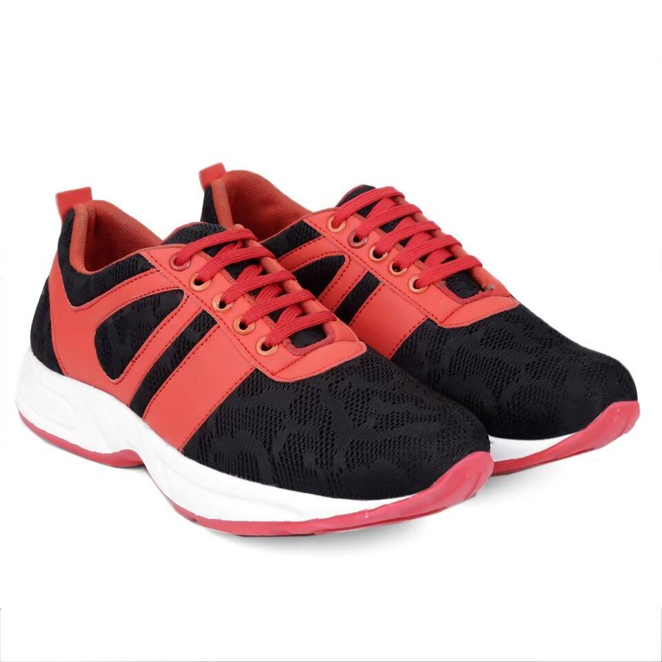 Rvy Men's Black Red Sports Shoes