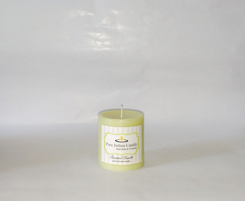 Pear Vanilla and Cinnamon Handmade Scented Pillar Candle PIC001