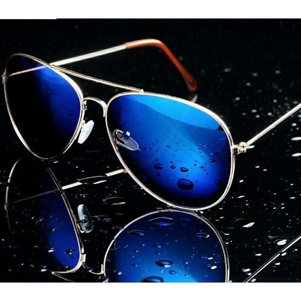 Sunglasses Blue Mercury Aviator Goggles For Men