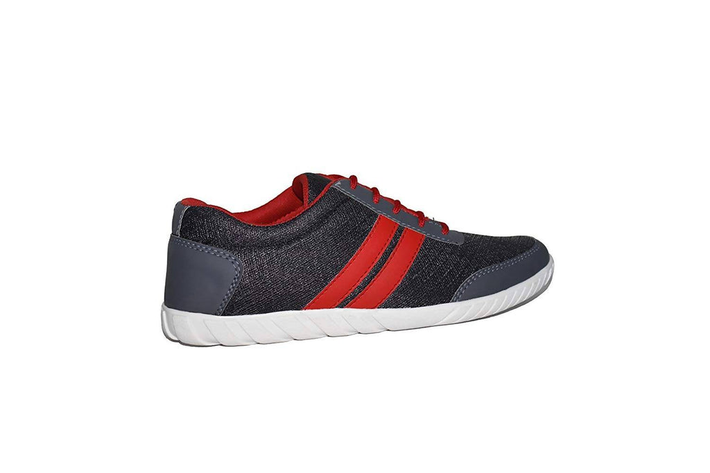 Xylus Men's Grey & Red Mesh New Designer Casual Shoes