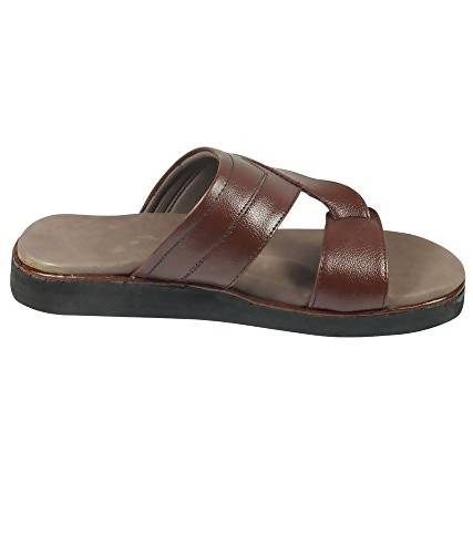 Micro-Soft Men's Brown Synthetic Flip-Flops MCR-9015