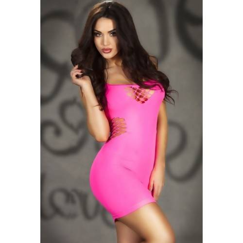 LOVEMATE BLUSHING ROSE CHEMISE DRESS