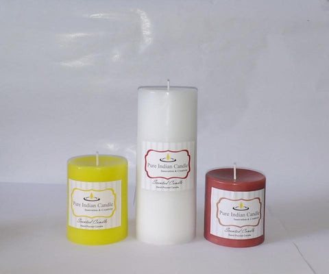 Handmade Triple Scented Pillar Candle PIC0310