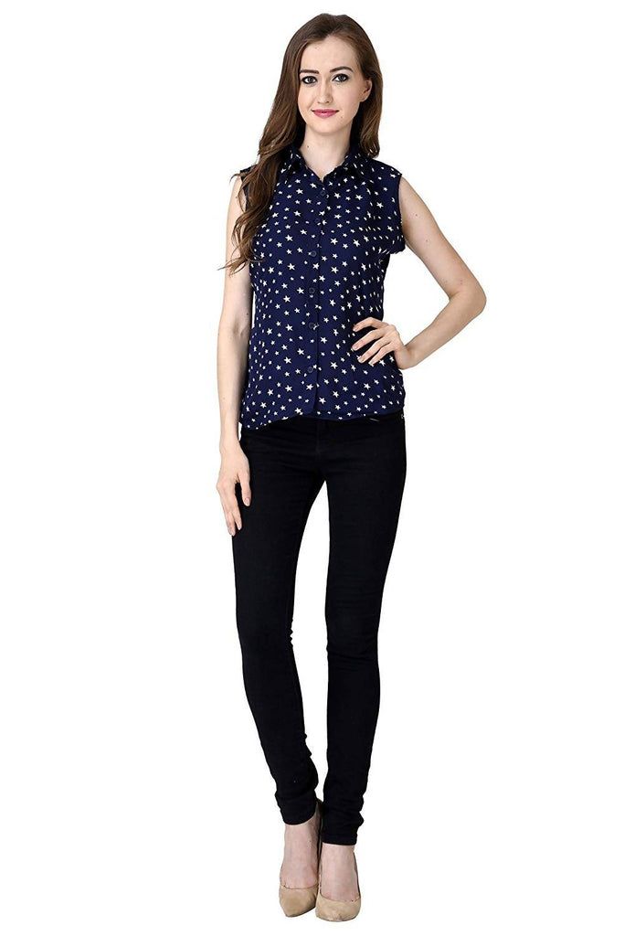DAMEN MODE Women's Starred Slim Fit Top