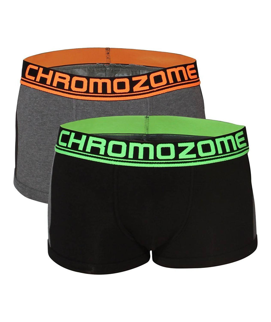 Chromozome Men's Solid Boxers (Pack of 2)
