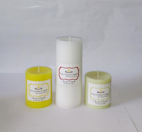 Handmade Triple Scented Pillar Candle PIC0320
