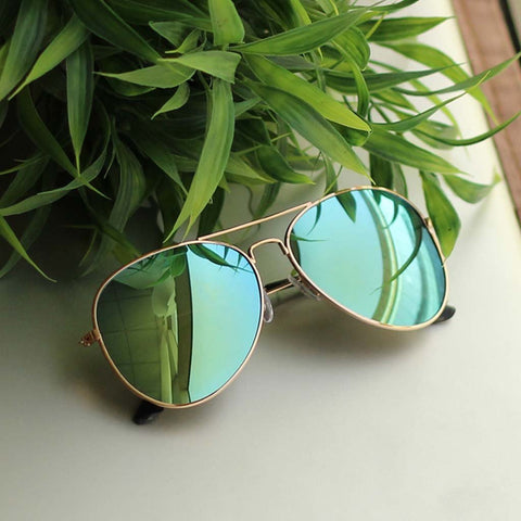 Green Mercury Aviator Sunglasses For Men