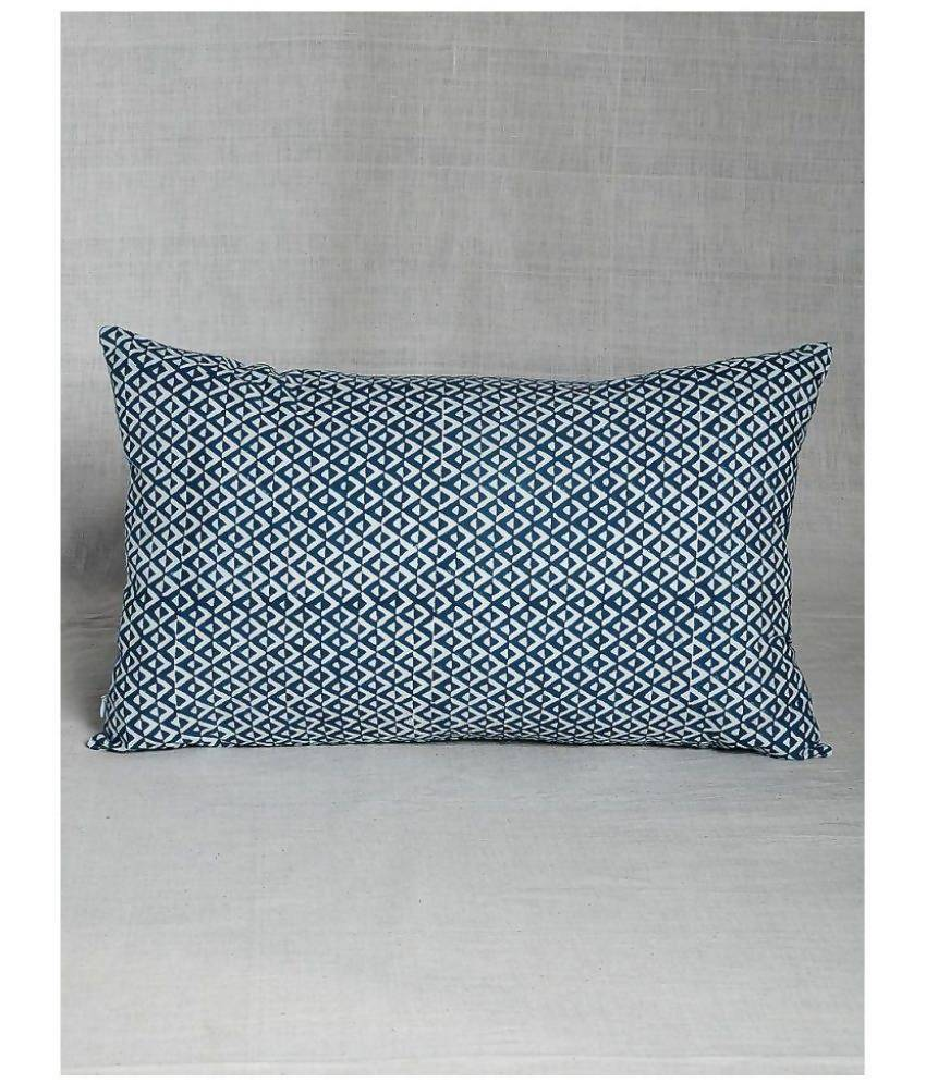 MYYRA Single Blue Pillow Cover