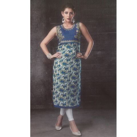 Stylish Designer Albeli Silk Long Kurtis for Party Wear