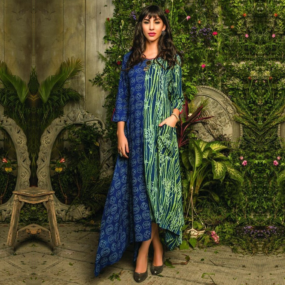 Marvellous Semi-Ethnic Party Rayon/ Silk Kurtis for Party Wear