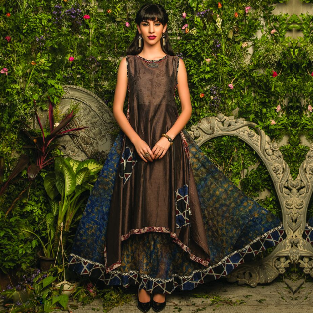 Elegant Full length Semi-ethnic Rayon/ Silk Kurtis