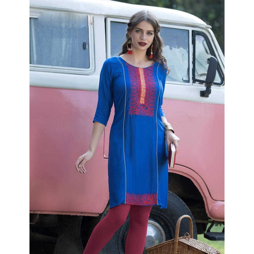 A Statement of Celebration, With Blue And Red Color Neck A Indulging Collection