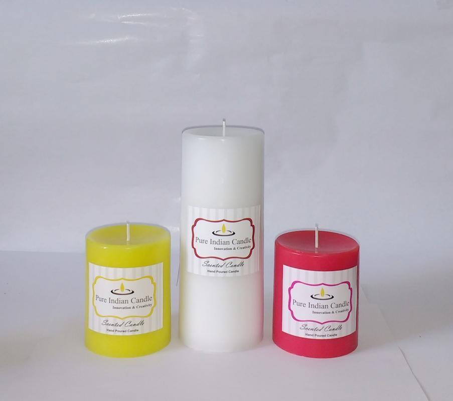 Handmade Triple Scented Pillar Candle PIC0322