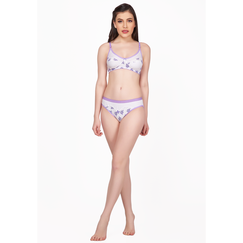 Ravishing Biloba Flower Cotton Printed Stylish Bikini Set-BILOBA
