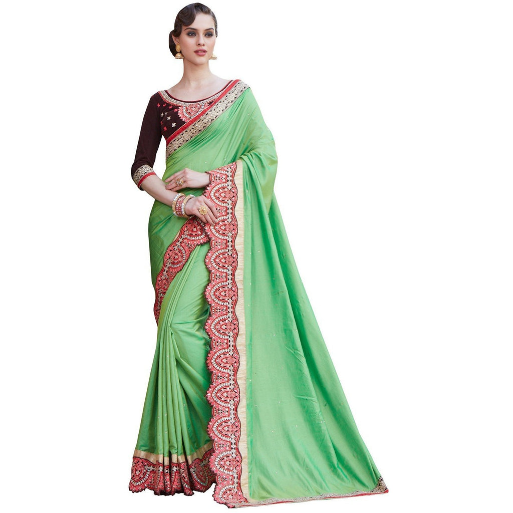 Mastani - Green zeel saree1